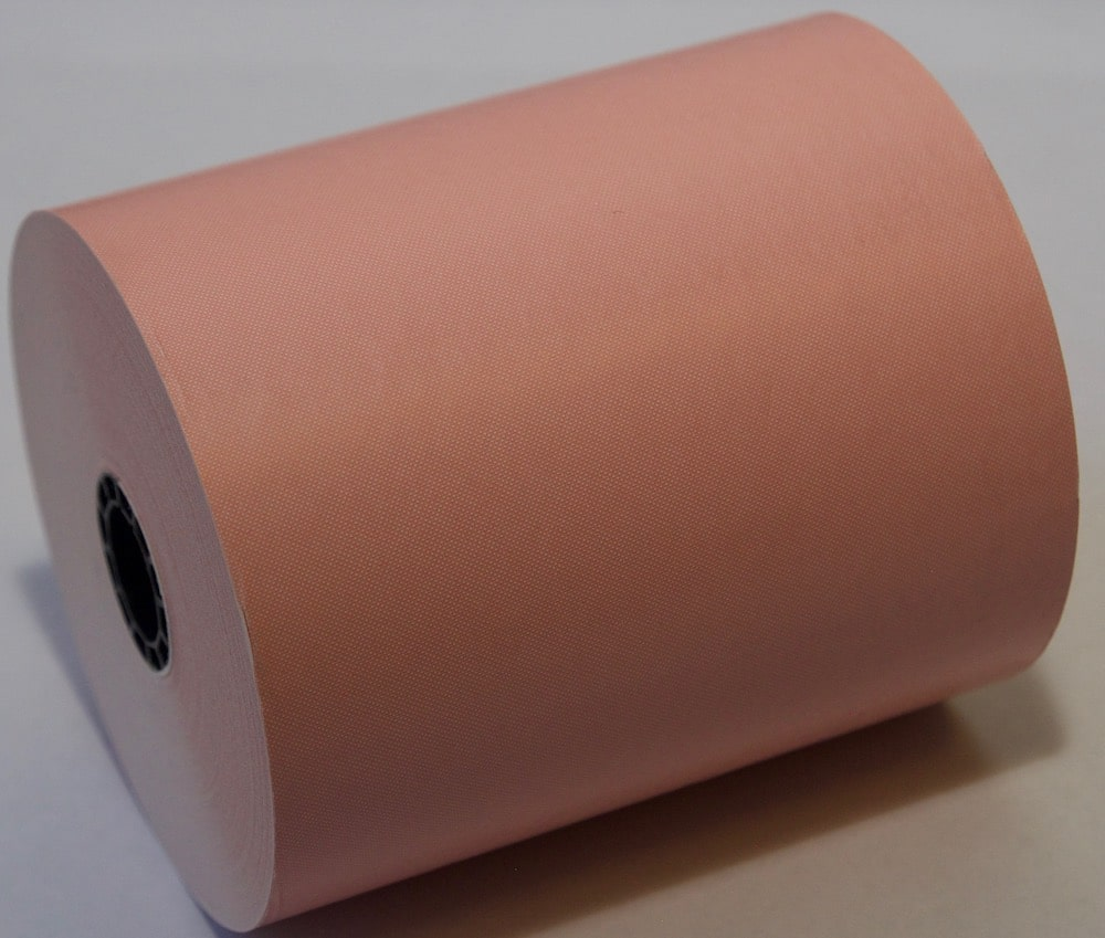 "3 1/8"" x 230' Pink Thermal Rolls"
